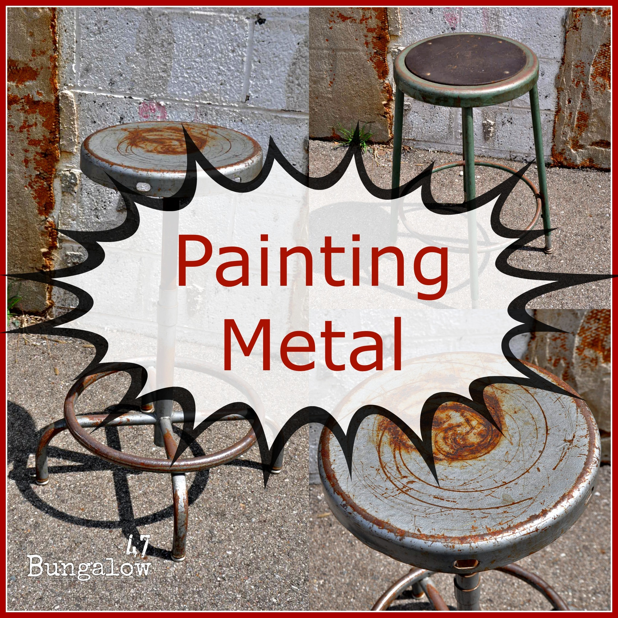 Painting Furniture Or Should I Say Painting Metal Bungalow 47