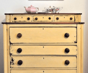 Yellow Milk Paint – and a Text Message Garage Sale Find