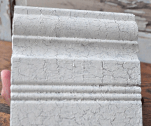 DIY Crackle Finish with School Glue