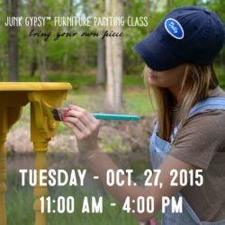 Junk Gypsy™ Furniture Painting Class