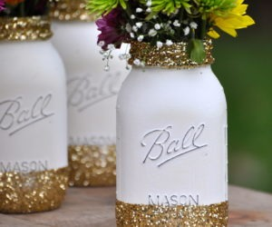 Painting Glass Mason Jars