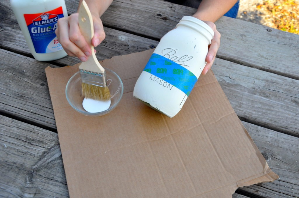 Painting Glass Jars Using Bungalow 47 Furniture Paint