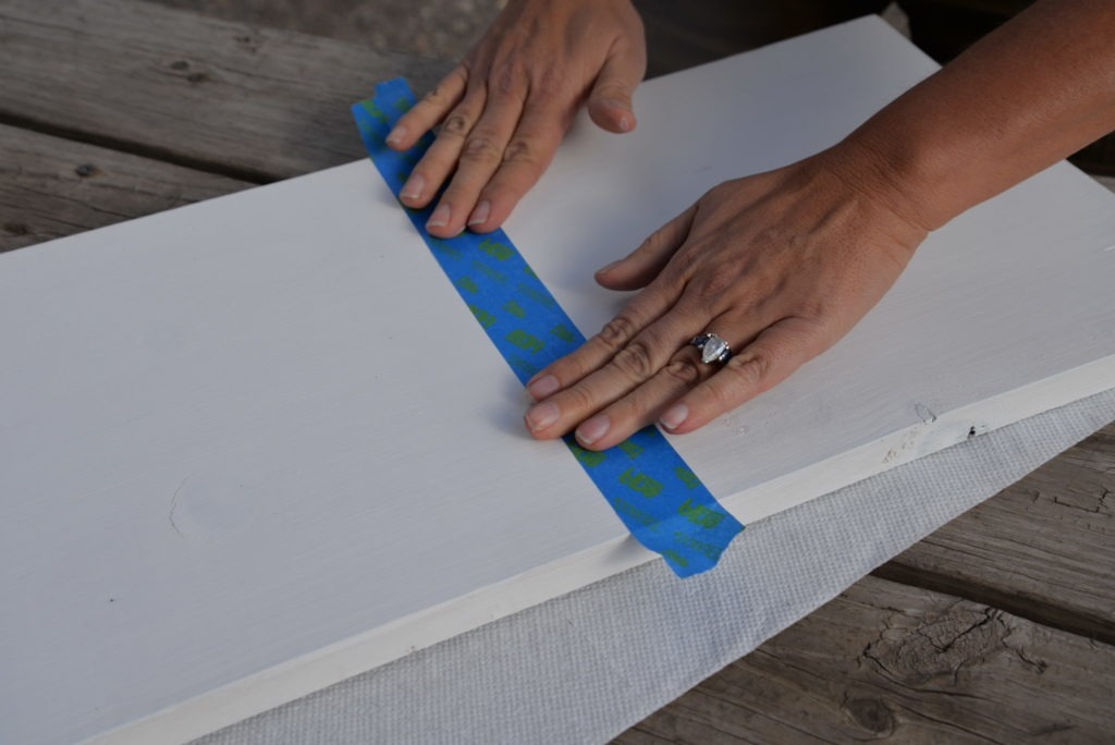 Making a Gingham tray using Bungalow 47™ Furniture Paint