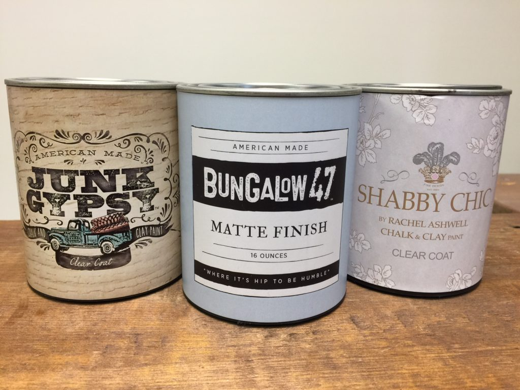 Bungalow 47 Clear COat finish sold in these 3 brands