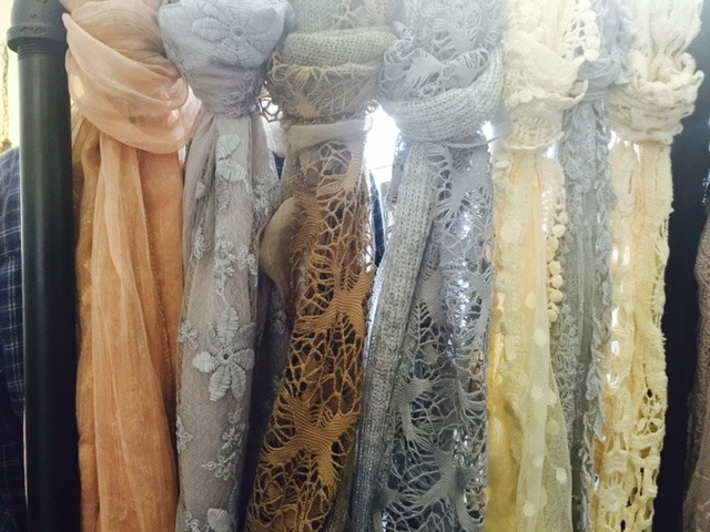 Lacy scarves at Bungalow 47