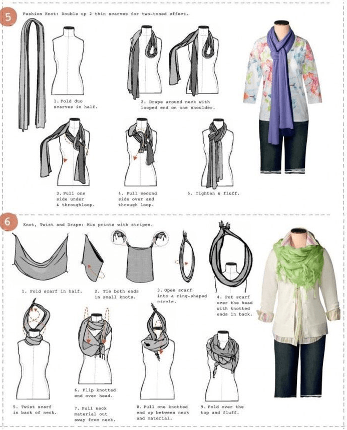 Ways to ties a scarf from buzzfeed.com