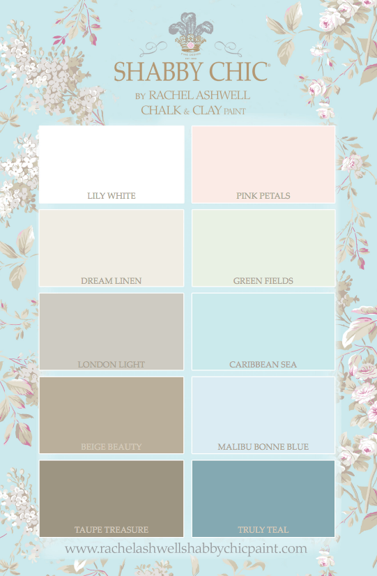 Rachel Ashwell Shabby Chic Paint in 10 signature colors