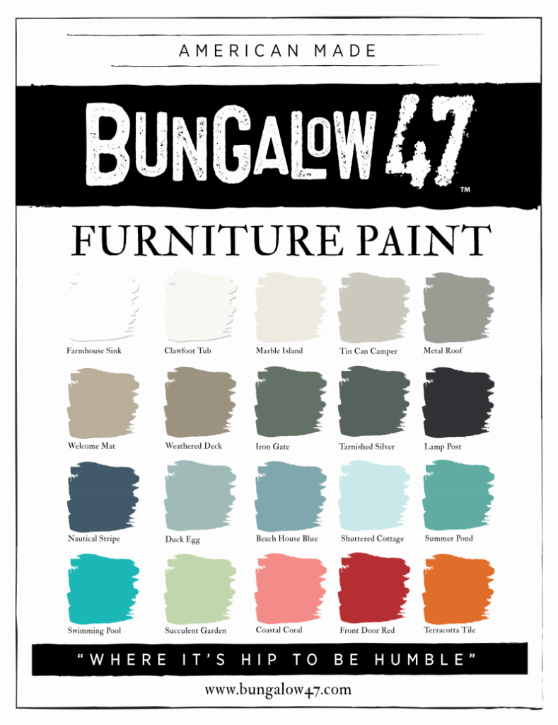 Bungalow 47 Furniture Paint - 20 colors
