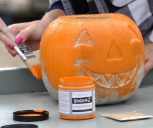 Make a Cement Pumpkin