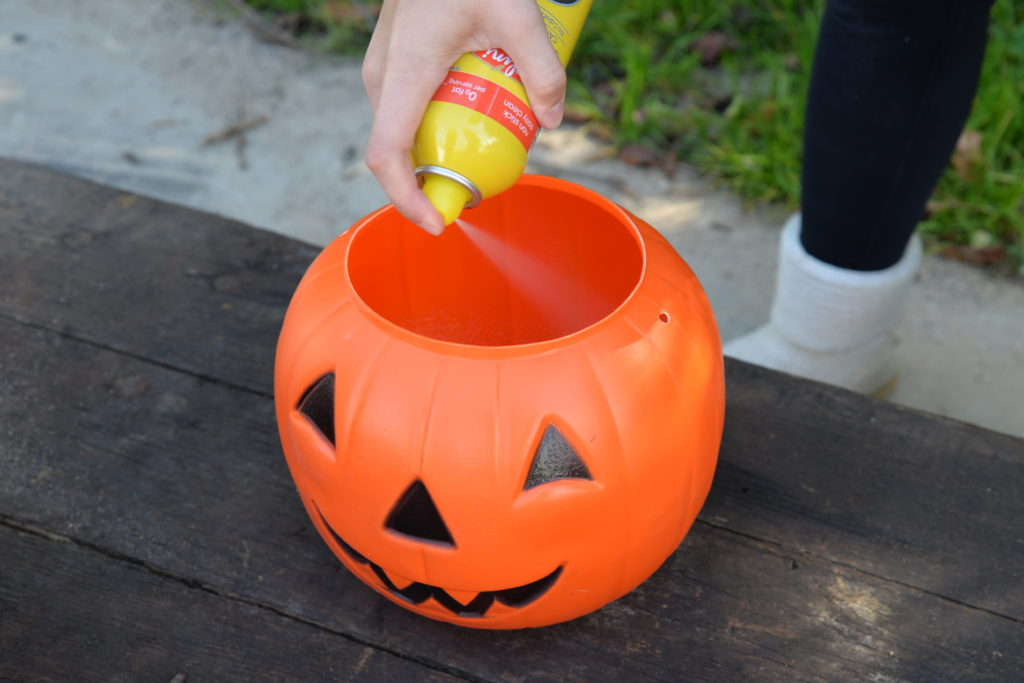 Painting cement pumpkins using Bungalow 47 paint