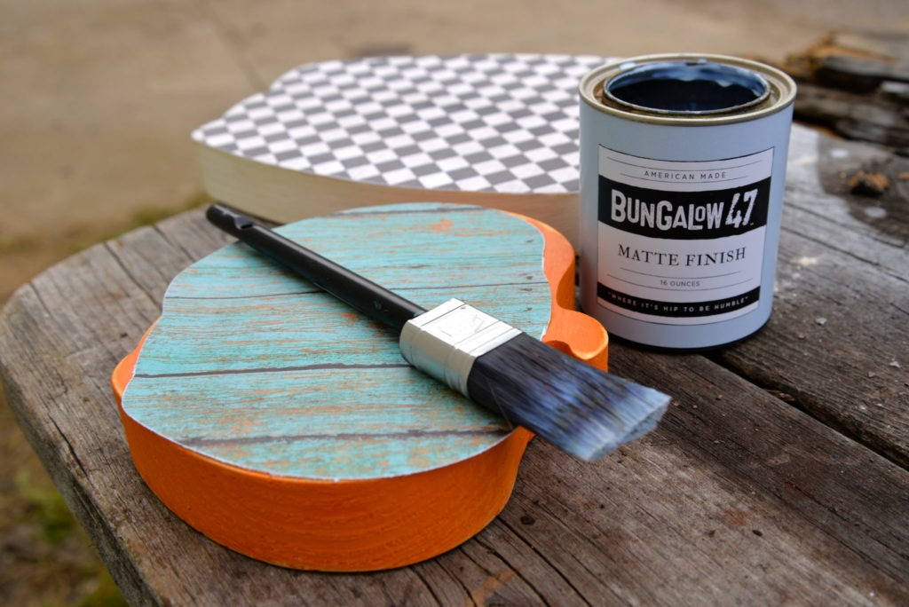 Items needed to decoupage with Bungalow 47 Matte Finish