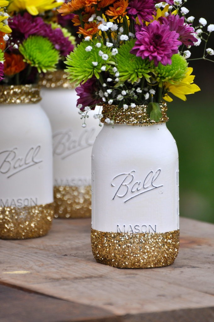 Painting Glass Mason Jars Bungalow 47