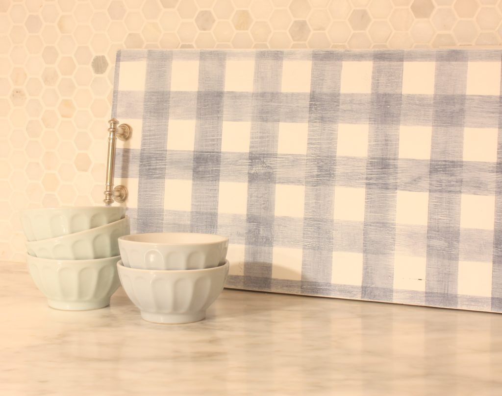 Bungalow 47 Furniture Paint stenciled gingham