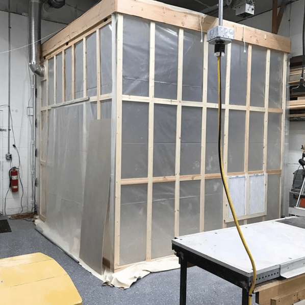 Paint booth at 141 Design Company