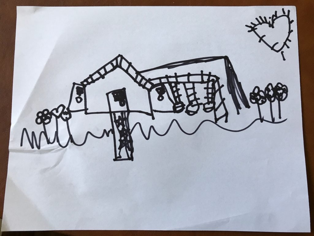 Plans for the playhouse in the eyes of a four year old